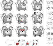 Mouse ball cartoon expression set Stock Image