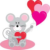 Mouse And Balloons Stock Images