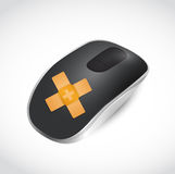 Mouse band aid fix solution concept Stock Photo