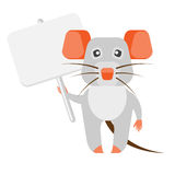 Mouse with banner Royalty Free Stock Images