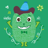 Mouse bean cute hello Royalty Free Stock Images