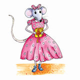 Mouse birthday present Royalty Free Stock Photos