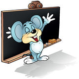 Mouse before Blackboard Stock Photography