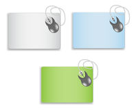 Mouse on a blank mousepad Royalty Free Stock Photos
