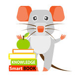 Mouse with books Royalty Free Stock Photography