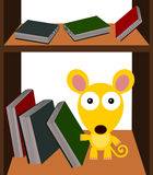 Mouse the bookworm Royalty Free Stock Photo