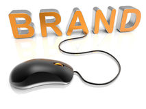 Mouse brand connected concept Royalty Free Stock Images