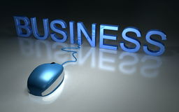 Mouse business Stock Photography