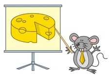 Mouse businessman Stock Images