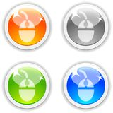 Mouse buttons. Royalty Free Stock Images
