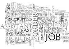 A Mouse Can Help You Recruit Recruiters Cannot Be Wrong Word Cloud Royalty Free Stock Photography