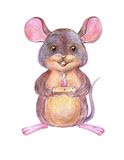 Mouse with candle Stock Image