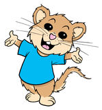 Mouse cartoon illustration. Cartoon illustration of a happy mouse
