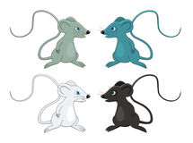 Mouse cartoon vector illustration. This is a mouse, cartoon vector illustration. There are four versions of same drawing Stock Photo