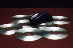 Mouse and CD-ROM Royalty Free Stock Image