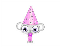 Mouse character with hat. An illustration of a funny mouse character wearing a hat Royalty Free Stock Images