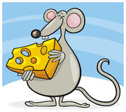 Mouse with cheese Stock Photos