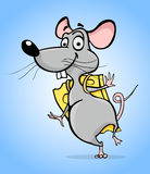 Mouse with cheese Royalty Free Stock Images