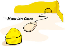 Mouse & Cheese Royalty Free Stock Photography