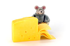 Mouse and cheese Royalty Free Stock Image