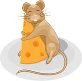 Mouse with cheese Stock Photo