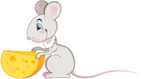 Mouse with cheese Royalty Free Stock Photos