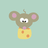 Mouse And Cheese Stock Photography