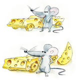 Mouse cheese car royalty free stock photo