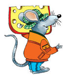 Mouse cheese cartoon drawing rodent Royalty Free Stock Photography