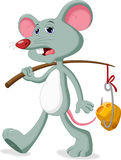 Mouse and cheese cartoon Royalty Free Stock Photo
