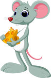 Mouse and cheese cartoon Royalty Free Stock Image