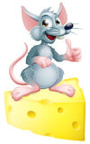 Mouse and cheese Stock Image