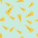 Mouse in cheese2. Vector illustration. Seamless pattern mouse in cheese Royalty Free Stock Photos