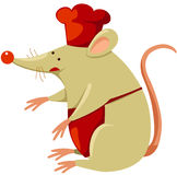 Mouse chef royalty free illustration