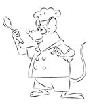 Mouse chef Stock Image