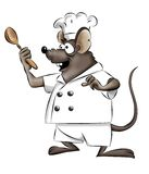 Mouse chef Royalty Free Stock Images