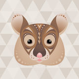 Mouse. Chinese horoscope sign. Vector illustration in ethno style royalty free illustration
