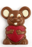 Mouse chocolate love Royalty Free Stock Image