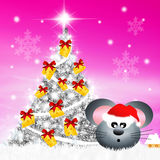 Mouse at Christmas Royalty Free Stock Image