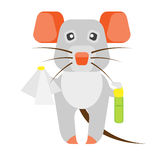 Mouse cleaning Stock Photo