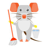 Mouse cleaning Royalty Free Stock Photos