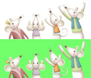 Mouse in clothes Royalty Free Stock Image