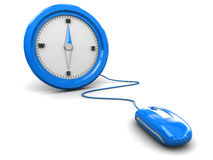 Mouse and compass Royalty Free Stock Images