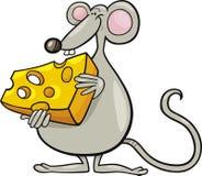 Mouse con formaggio Fotografie Stock