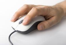 Mouse con la mano Fotografie Stock