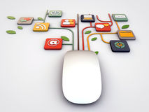 Mouse connections Royalty Free Stock Photography