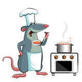 Mouse cook - chef holdson Stock Image