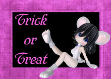 Mouse Costume Trick or Treat Background Royalty Free Stock Images