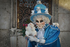Mouse costumed masked man portrait. At San Zaccaria in Venice Royalty Free Stock Images