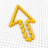 Mouse cursor 3d icon Stock Photography